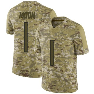 Warren Moon Men's Tennessee Titans 2018 Salute to Service Jersey - Limited Camo